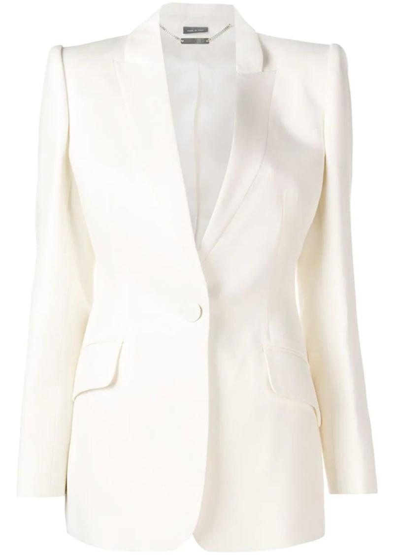 Alexander McQueen slim fit tuxedo blazer