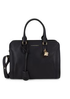 Alexander McQueen Small Padlock Leather Satchel