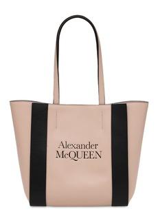 Alexander McQueen Small Signature Leather Tote