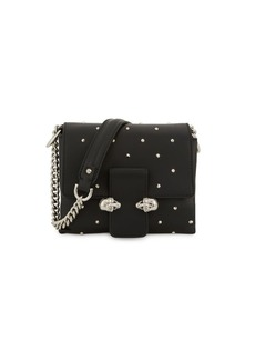 Alexander McQueen Small Twin Skull Leather Camera Bag