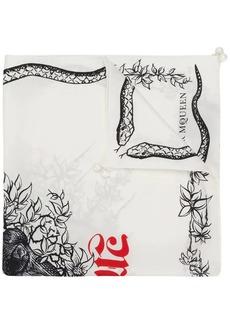 Alexander McQueen Snake Skull bandana scarf