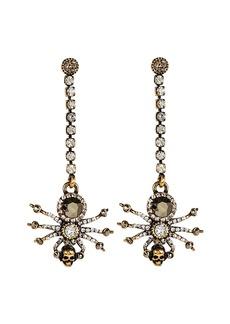 Alexander McQueen Spider Crystal Chain Earrings