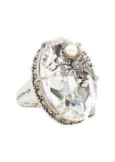 Alexander McQueen Spider Crystal Cocktail Ring