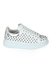 Alexander McQueen Spike-Studded Leather Platform Sneakers