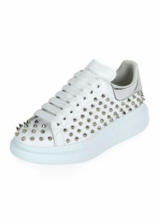Alexander McQueen Spike-Studded Leather Platform Sneakers
