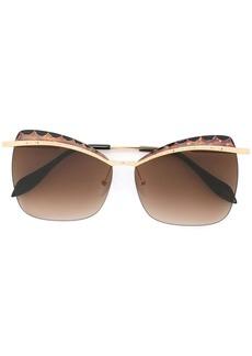 Alexander McQueen squared cat eye sunglasses