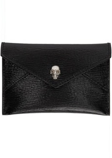 Alexander McQueen SSENSE Exclusive Black Mechanical Envelope Card Holder