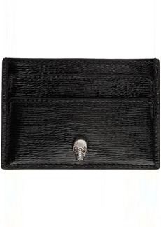 Alexander McQueen SSENSE Exclusive Black Skull Card Holder