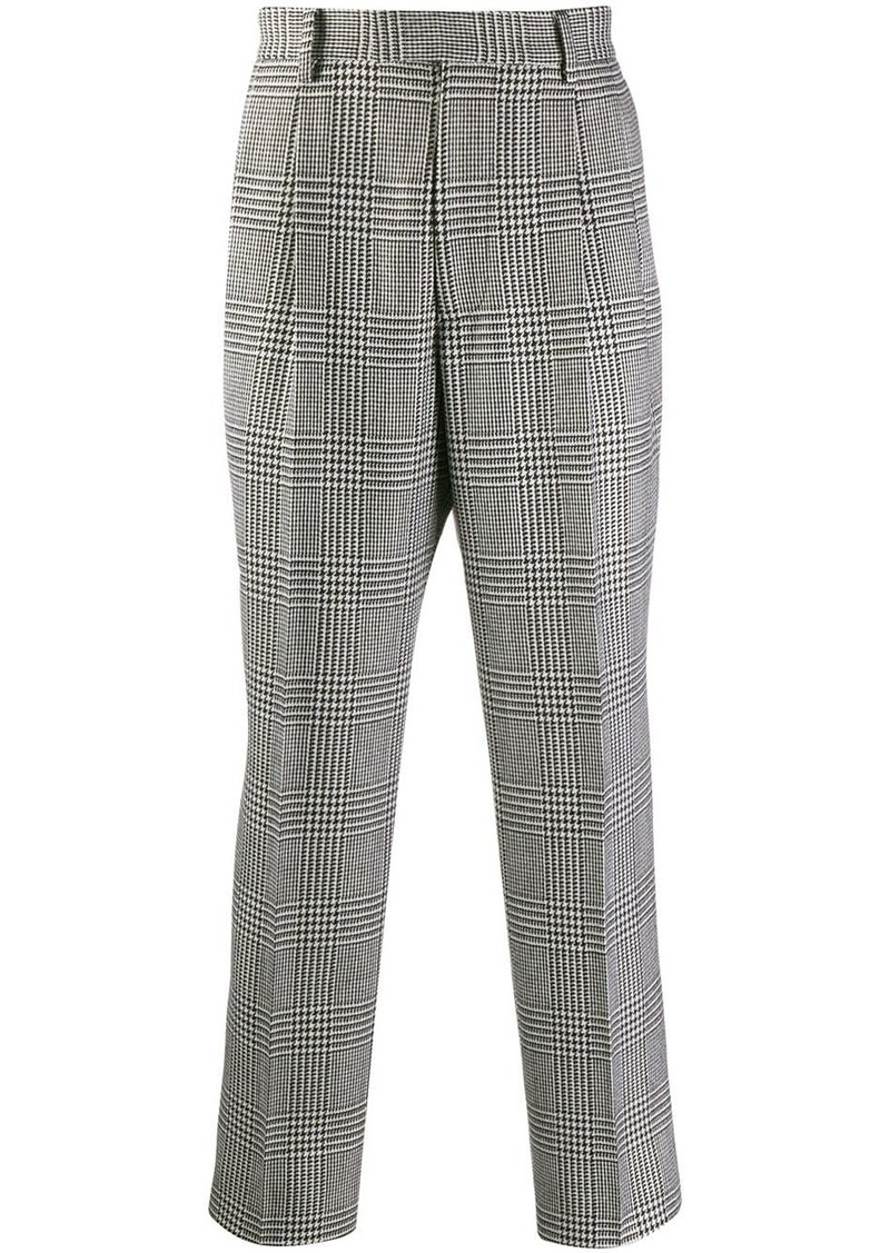 Alexander McQueen straight houndstooth trousers