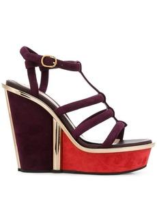 Alexander McQueen strappy wedge sandals