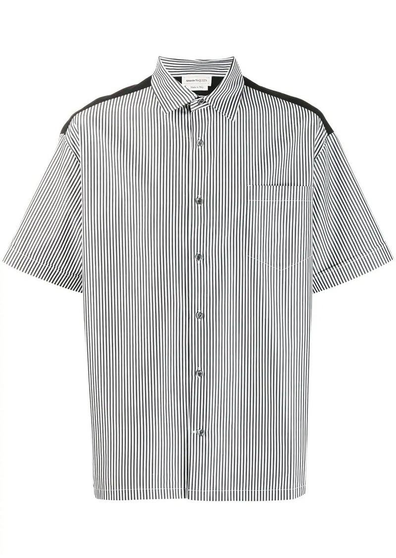 Alexander McQueen striped skull print shirt