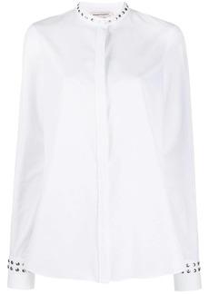 Alexander McQueen stud detail collarless shirt