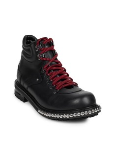Studded Leather Hiking Boots