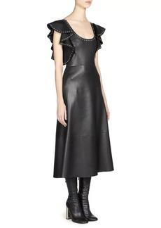 Alexander McQueen Studded Leather Midi Dress