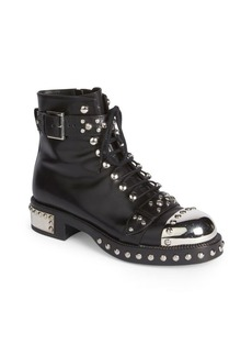 Studded Leather Moto Booties