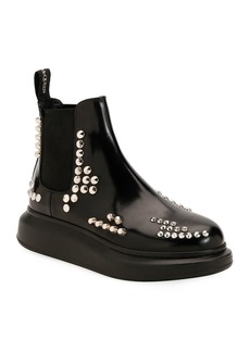 Alexander McQueen Studded Leather Platform Boots