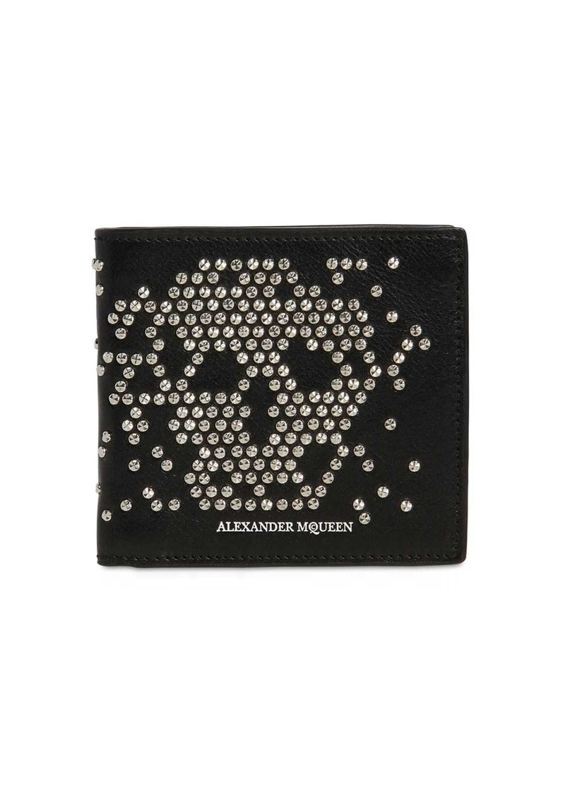 Alexander McQueen Studded Skull Classic Leather Wallet