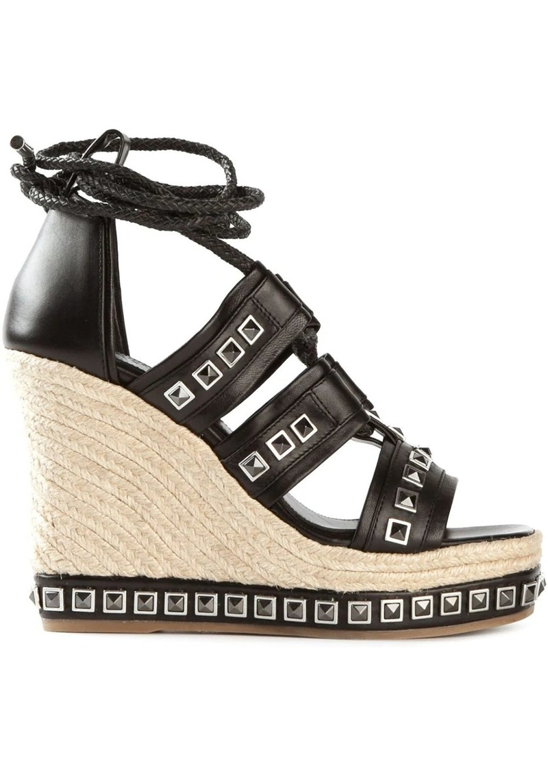 Alexander McQueen studded wedge sandals