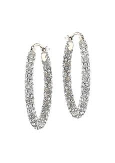 Alexander McQueen Swarovski Crystal Hoop Earrings