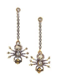 Alexander McQueen Swarovski Crystal Pavé Spider Earrings