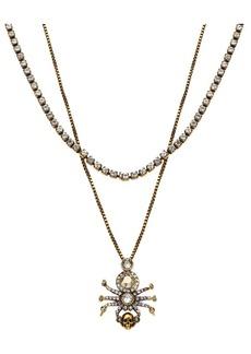 Alexander McQueen Swarovski Crystal Pavé Spider Necklace