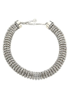 Alexander McQueen Swarovski Crystal Tubular Choker Necklace