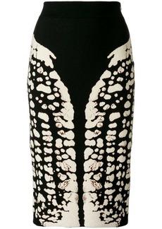 Alexander McQueen Symmetry pencil skirt