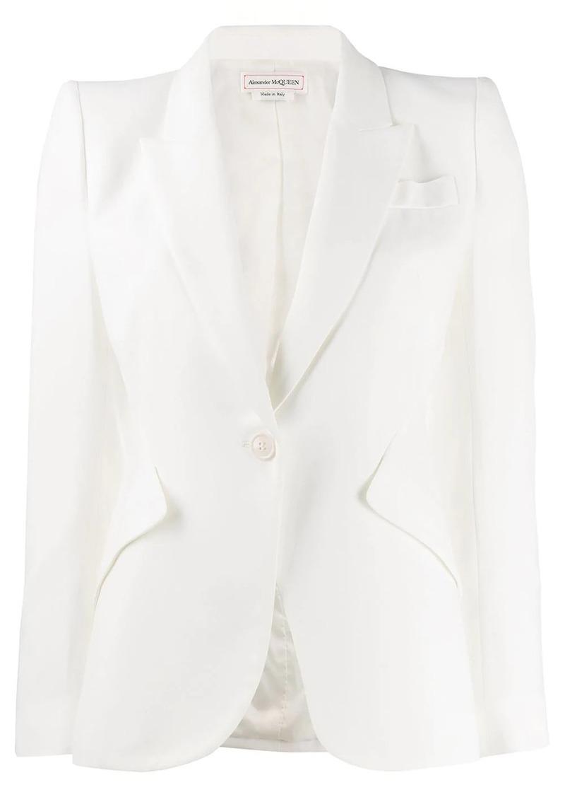 Alexander McQueen tailored padded shoulder blazer