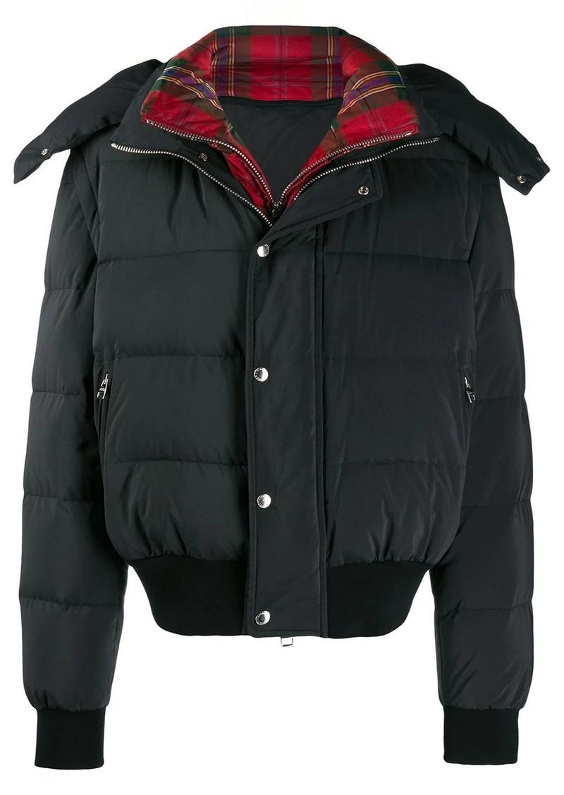 Alexander McQueen tartan layered puffer jacket