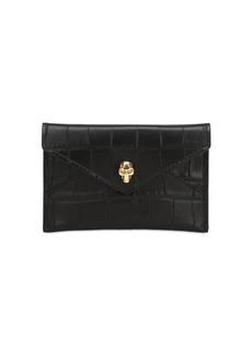 Alexander McQueen Textured Leather Envelope Card Holder