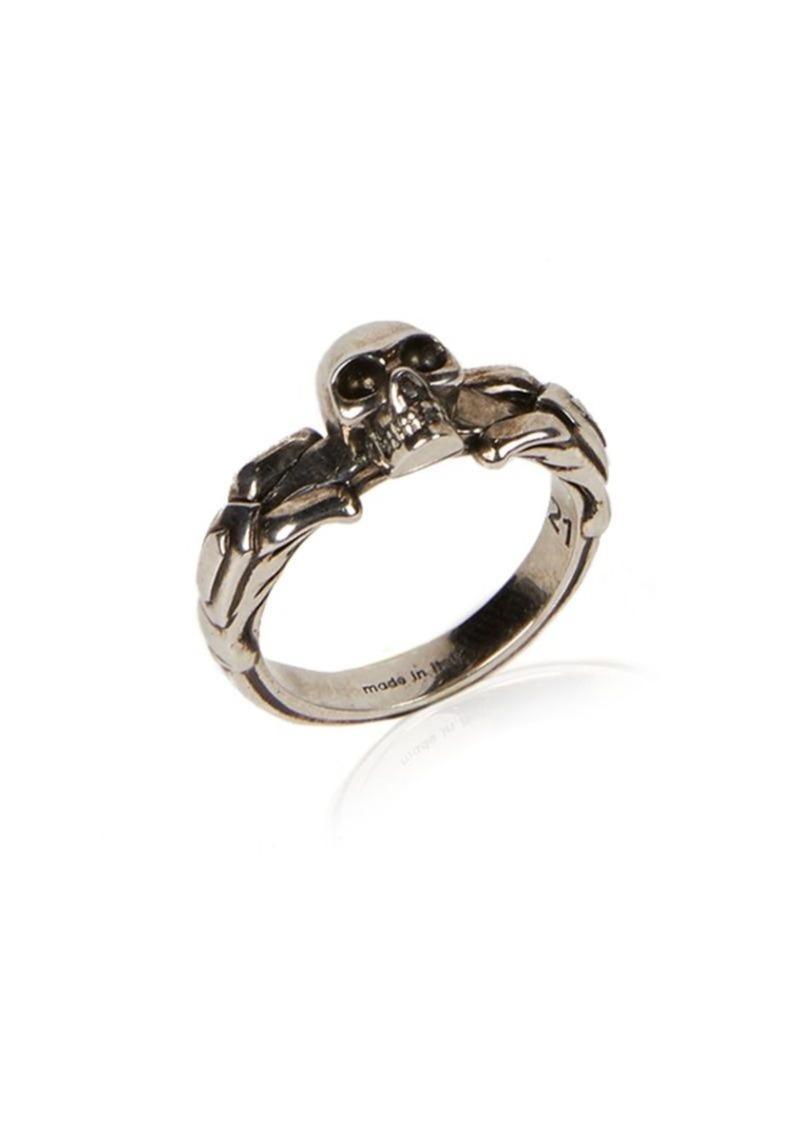 Alexander McQueen Textured Skull Ring