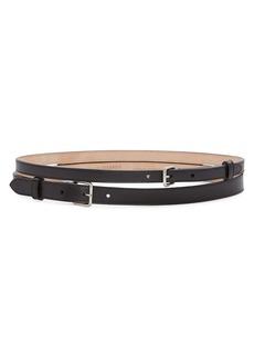 Alexander McQueen Thin Double Leather Belt