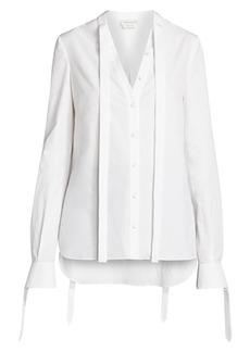 Alexander McQueen Tie Detail Poplin Shirt