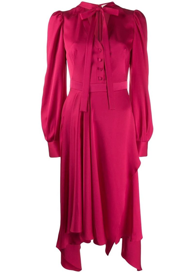 Alexander McQueen tie fastening asymmetric dress