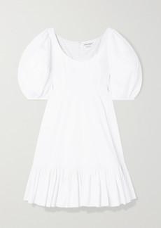 Alexander McQueen Tiered Cotton-poplin Dress