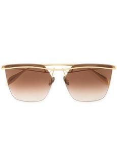 Alexander McQueen tinted bar sunglasses