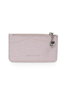 Alexander McQueen Top Zip Leather Wallet