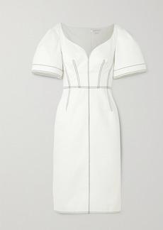Alexander McQueen Topstitched Denim Dress