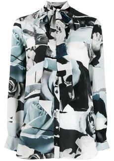 Alexander McQueen Torn Rose print blouse