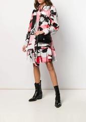 Alexander McQueen Torn Rose ruffle mini dress