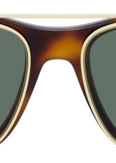 Alexander McQueen Tortoiseshell & Gold Rectangular 54 Sunglasses