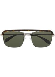 Alexander McQueen tortoiseshell square-frame sunglasses