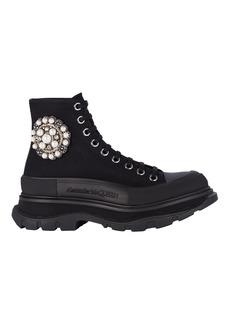 Alexander McQueen Tread Slick Lace-Up Canvas Boots