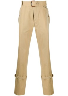 Alexander McQueen trench detail trousers
