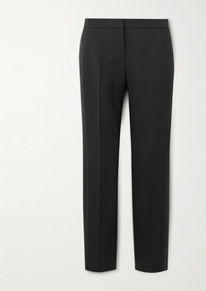 Alexander McQueen Tuxedo Grain De Poudre Wool-blend Tapered Pants