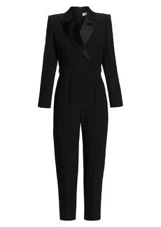 Alexander McQueen Tuxedo Tailored Crepe Jumpsuit