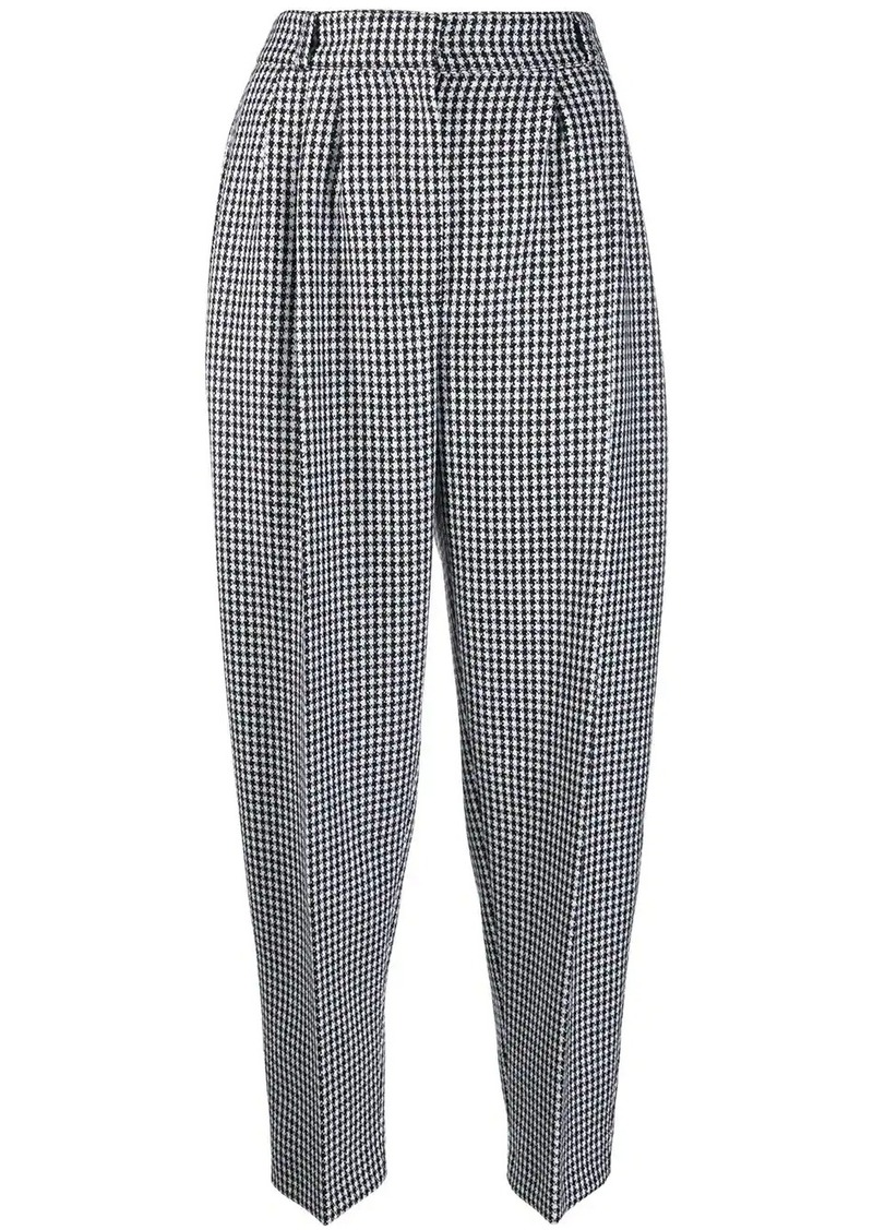 Alexander McQueen tweed balloon-leg trousers