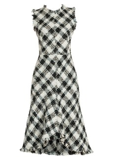 Alexander McQueen Tweed Fit-&-Flare Dress