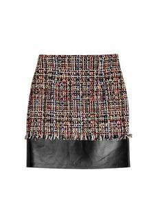 Alexander McQueen Tweed Skirt with Leather