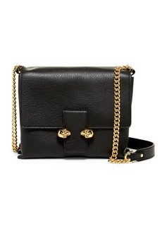 Alexander McQueen Twin Skull Large Leather Satchel